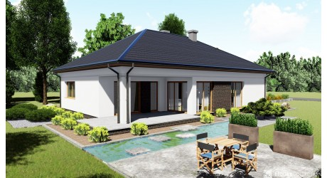 Dom Azuryt - Projekty domów klasycznych