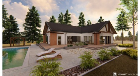 Dom Kalcyt - Projekty domów nowoczesnych