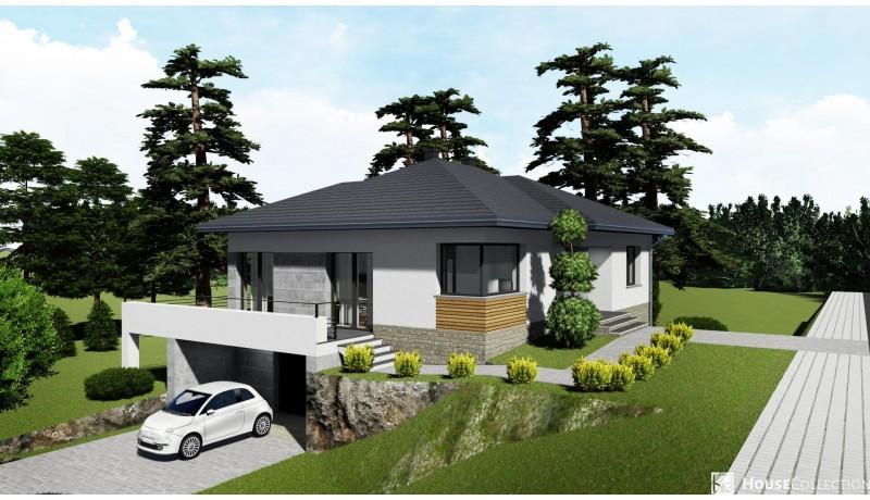 Dom Pompeje - Projekty domów nowoczesnych