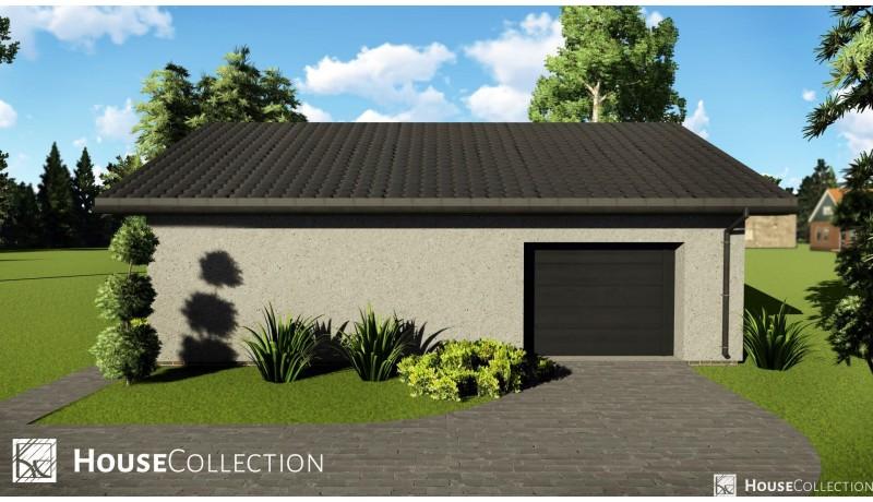 Garaż jednostanowiskowy - Garaże i wiaty