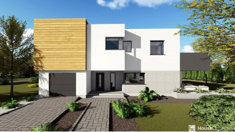 Dom Menchester - Projekty domów nowoczesnych